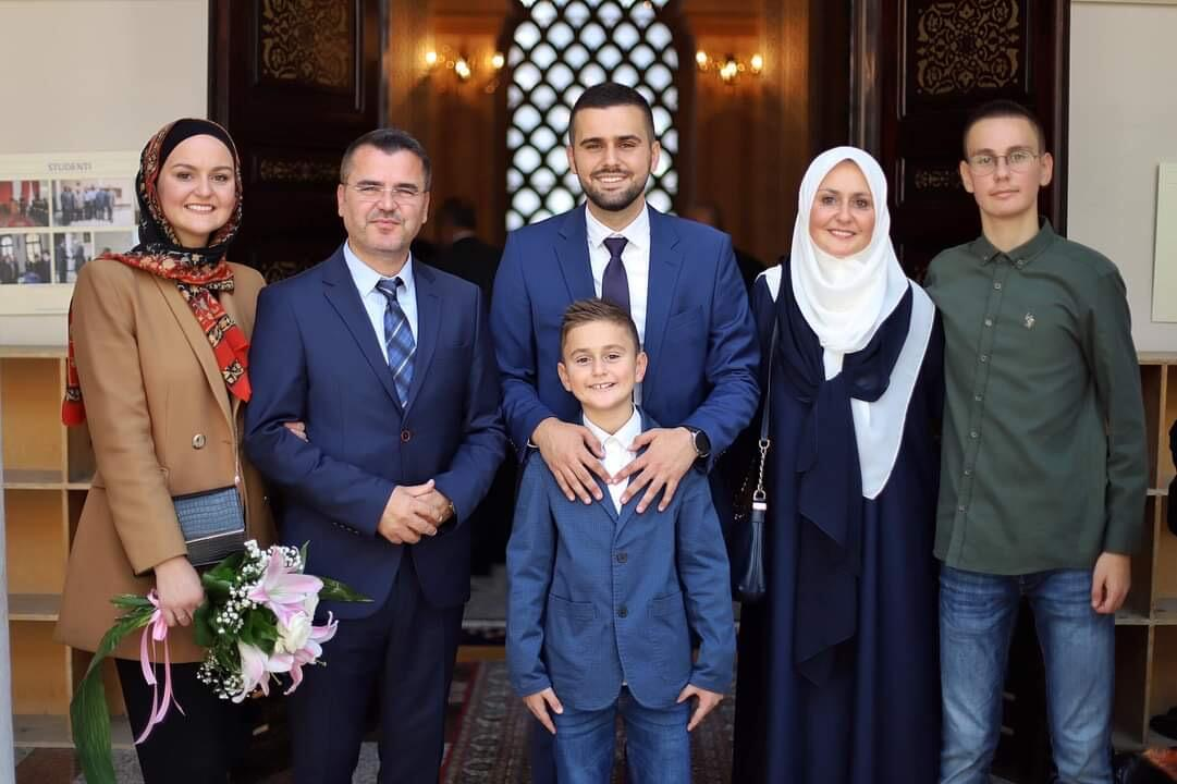 Ahmed Alili s porodicom